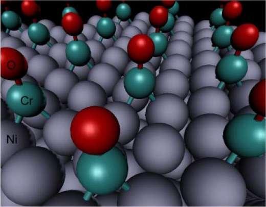 Le nickel de l'anode est traité au chrome. La réaction qui transforme l'hydrogène et l'hydroxyle (OH-) en eau est ainsi catalysée. © Lin Zhuang et al./Pnas