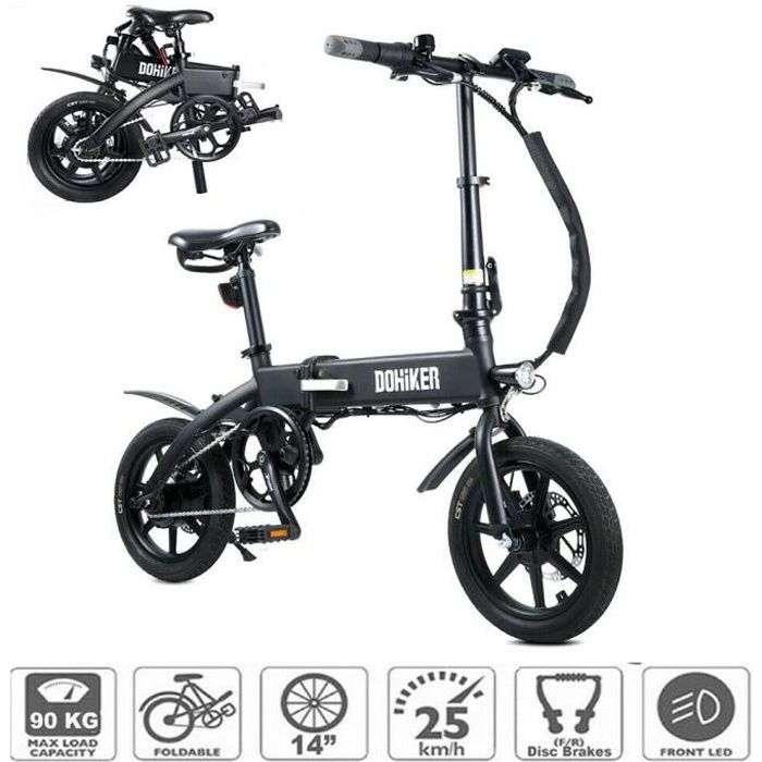 Bon plan : le vélo électrique pliable DOHIKER KSB14 © Cdiscount