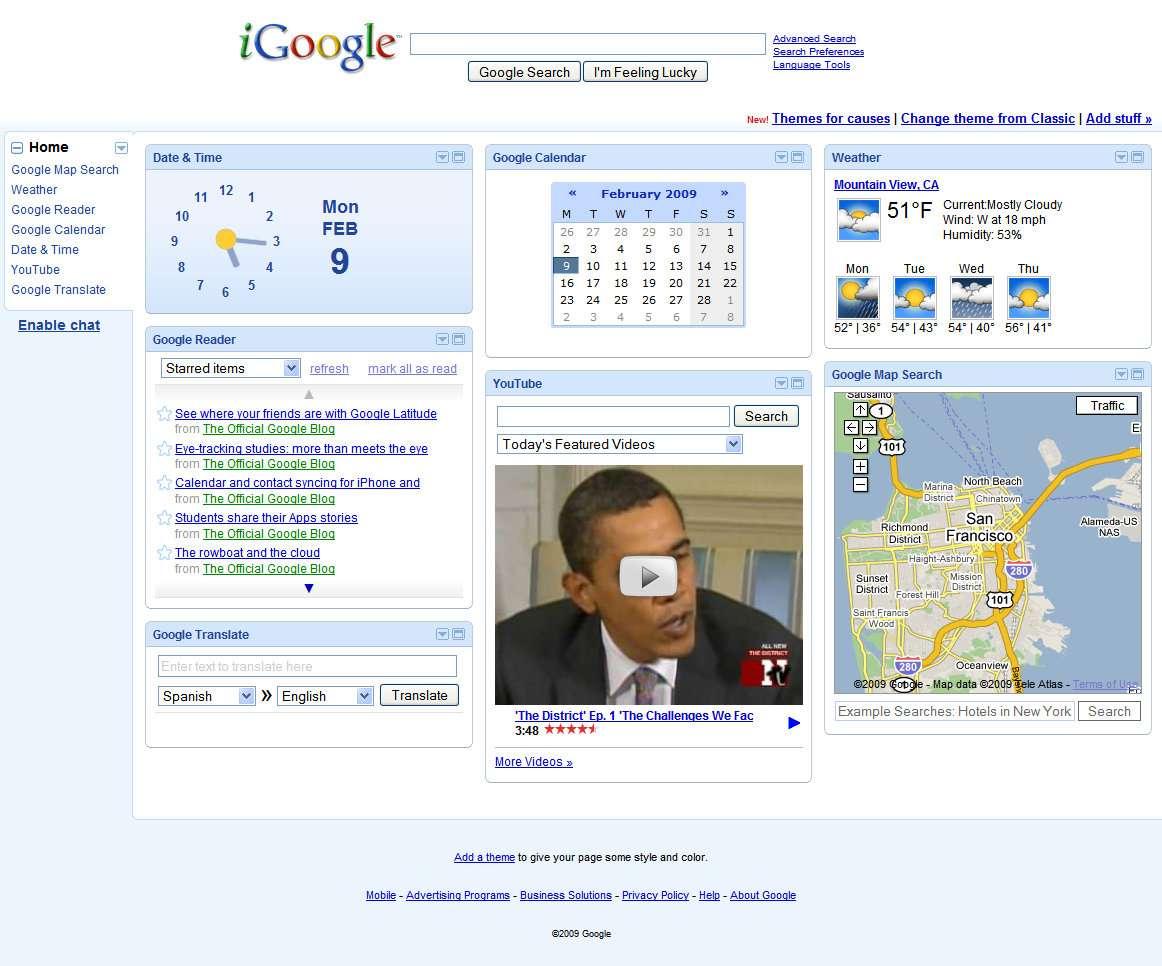 iGoogle fermera définitivement ses portes le 1er novembre 2013, précédé de plusieurs autres services. Un internaute facétieux propose un « cimetière Google » où sont présentés tous les services supprimés par l'entreprise. © DR