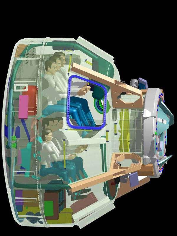 Boeing et Bigelow Aerospace ont annoncé vouloir développer une capsule habitable pour des vols commerciaux et de tourisme spatial. A suivre donc. Crédit Boeing