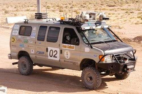 Le véhicule du CalTech (Edition 2007). Crédit DARPA.
