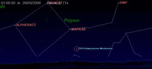 Observez la comète Schwassmann-Wachmann (73/P)