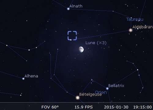 La Lune quitte janvier près du Crabe. © Futura-Sciences