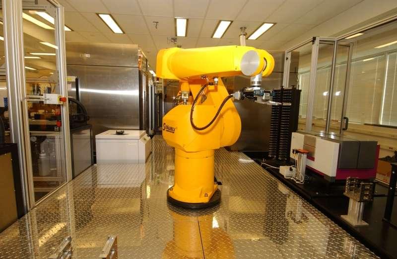 Un système robotisé utilisé pour l'étude du génome. © NHGRI