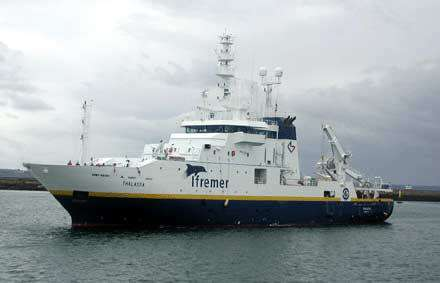 Le navire Thalassa de l'Ifremer