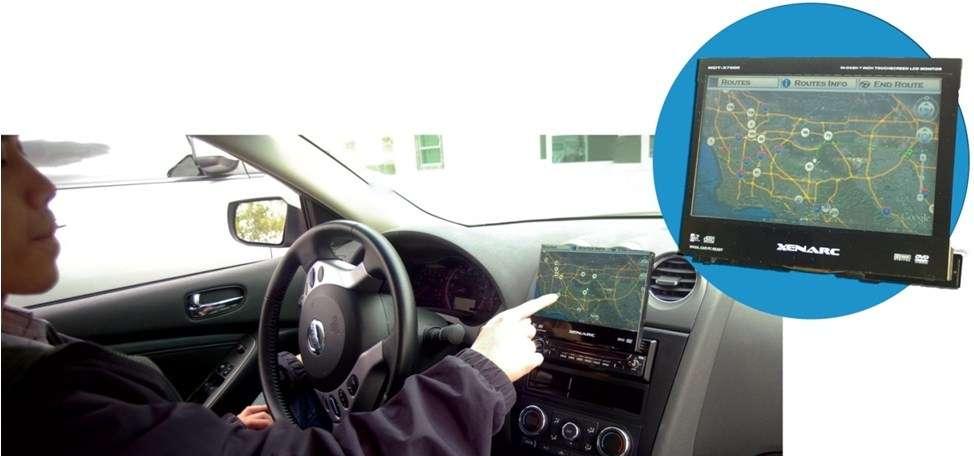 Grâce aux nombreuses informations collectées auprès de fournisseurs spécialisés, le système de navigation mis au point par l'équipe du professeur Guoyuan Wu est capable d'optimiser le trajet d'un véhicule électrique afin de préserver, au mieux, l'autonomie de sa batterie. © CE-CERT, université de Riverside