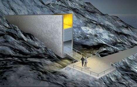 L'entrée de la grotte (vue d'artiste). Crédit Global Research