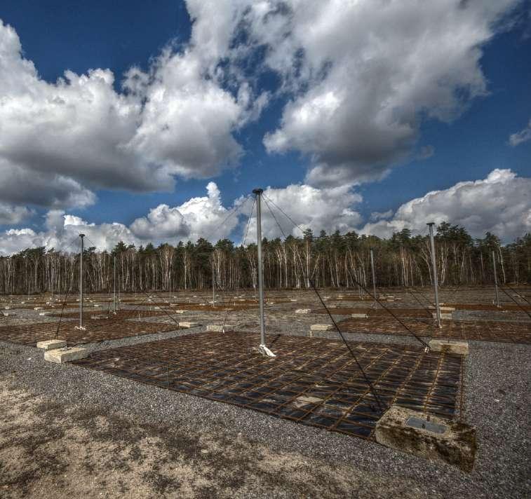 Les antennes BF de Lofar à Nançay. © I. Cognard
