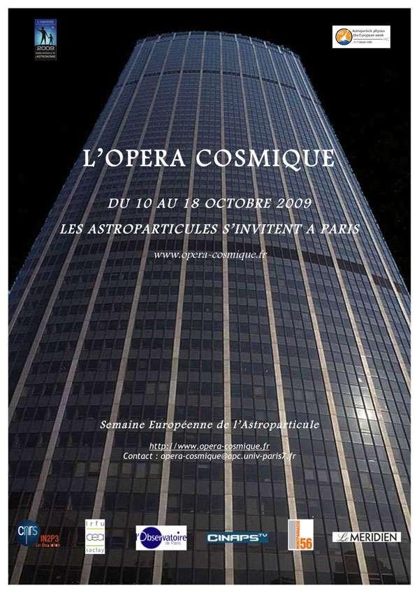 L'affiche des manifestations à la tour Montparnasse. Crédit : obspm