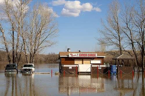 Une importante montée des eaux pourrait provoquer l'inondation des régions situées sous le niveau de la mer. © Courisa, Flickr, cc by nc sa 2.0