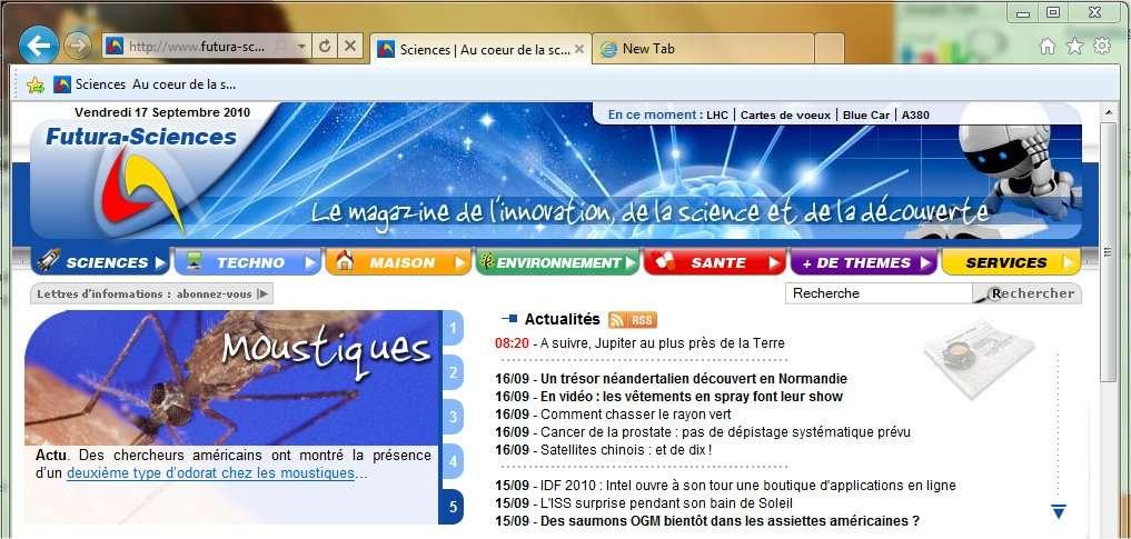 Internet Explorer 9 (disponible en version bêta) fait dans la sobriété à l'affichage. L'allure est plus moderne et le fonctionnement plus simple.