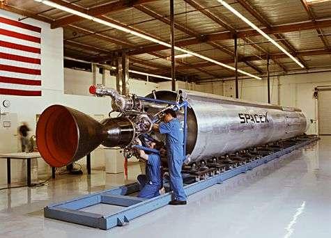 Le lanceur Falcon 1. Crédit SpaceX.