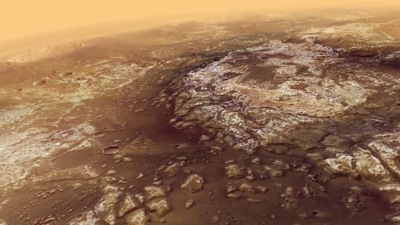 Mars : magnifique survol de Mawrth Vallis