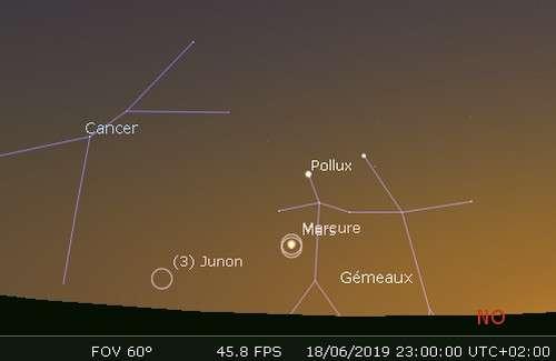 Mercure en rapprochement avec Mars