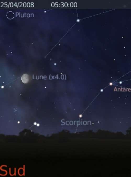 La Lune est en rapprochement avec la planète naine Pluton