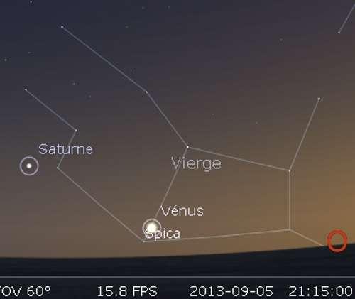 Vénus en rapprochement avec Spica