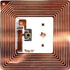 Puce RFID. Crédit Texas Instruments