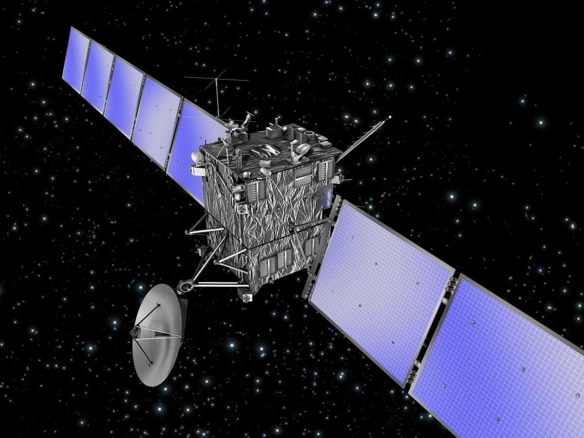 Vue d'artiste de la sonde Rosetta. Crédits Esa