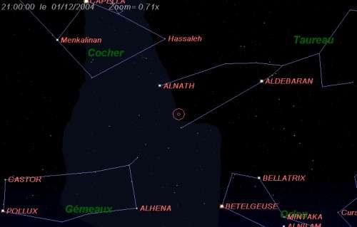Maximum de l'essaim des météores des chi-Orionides