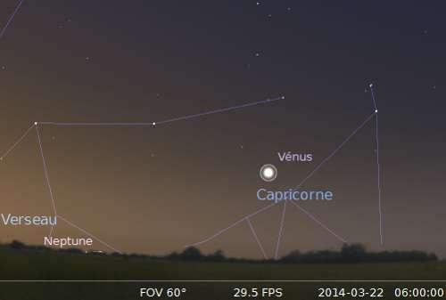 Plus grande élongation de Vénus à l'ouest du Soleil