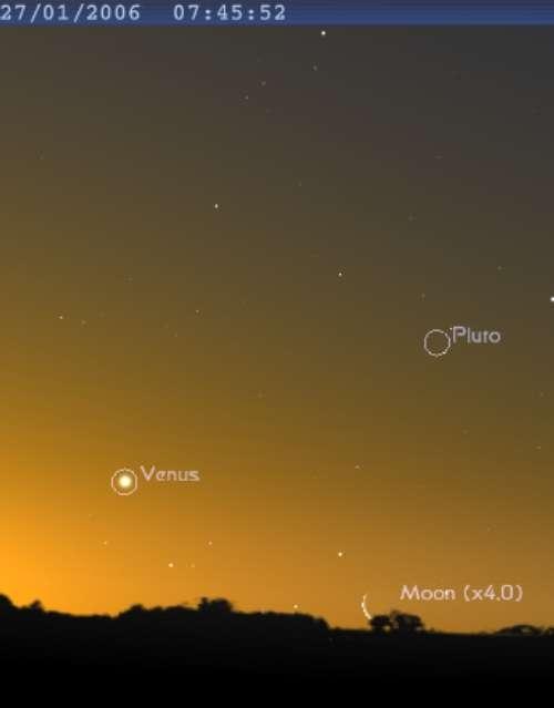 La Lune est proche de la planète Vénus