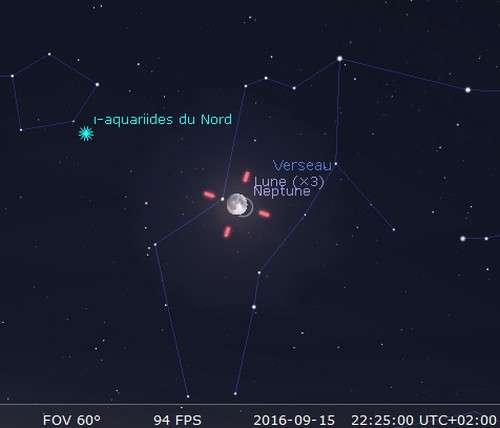 La Lune occulte Neptune. © Futura-Sciences