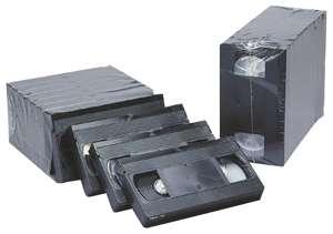 En 1986, la cassette VHS était le support qui contenait le plus de données relativement aux autres supports. © Fuji