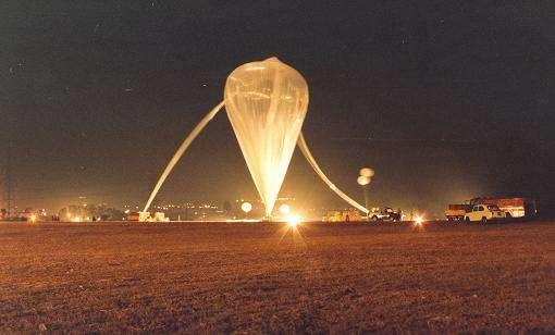 Le ballon décolle pour son voyage dans la stratosphère. © Isro