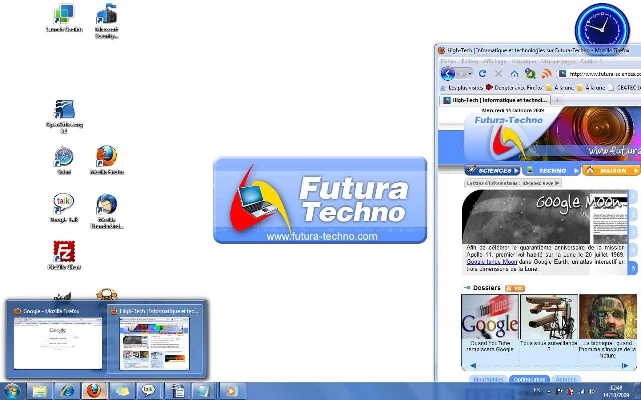 Bureau Windows 7 © Futura-sciences