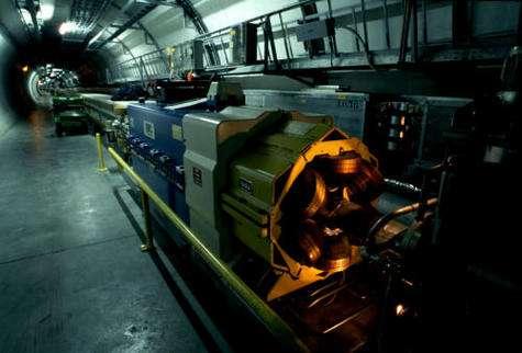 Vue du LEP lorsqu'il était encore en service (Crédit : CERN).