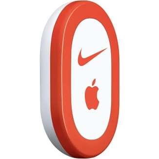 Le brevet d'Apple fait penser à l'accessoire Nike+iPod, un podomètre vendu 19 euros qui se loge dans un emplacement prévu à cet effet dans la semelle de chaussures de course Nike. Les informations qu'il récolte sont retransmises par ondes radio à un iPod ou un iPhone pour permettre à l'amateur de course à pied d'obtenir des statistiques sur ses entraînements. © Apple