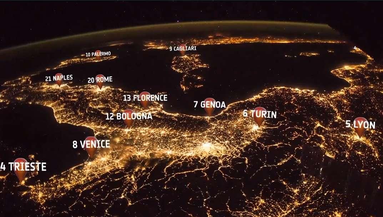 Découvrez les plus grandes villes d'Europe vues de nuit depuis l'espace