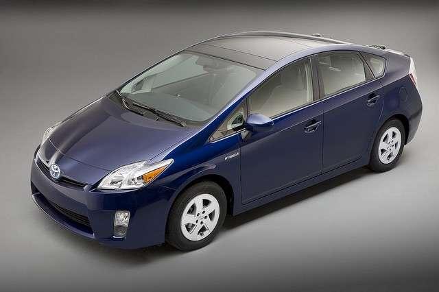 Une Prius 3 (en version hybride classique). © Toyota