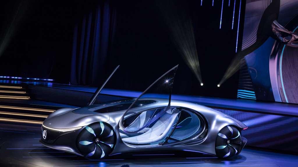 La Mercedes-Benz VISION AVTR suggère une symbiose entre l'homme, la machine et son environnement. © Mercedes-Benz