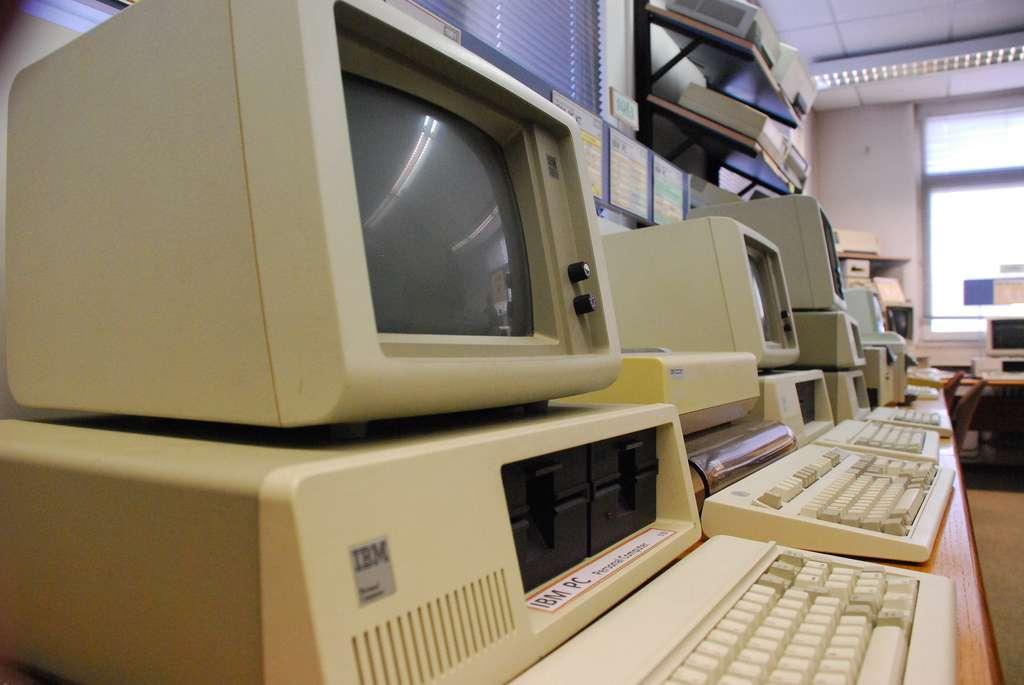 L'IBM 5150 PC, son nom officiel, avec son look sérieux, a changé l'histoire de l'informatique personnelle. © Medienzeitmaschine/Flickr CC by-nc-sa 2.0