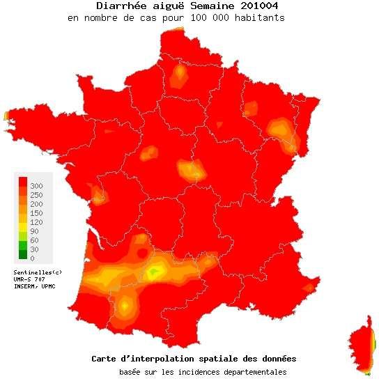 Gastro : la France est en rouge pour la semaine du 25 au 31 janvier 2010. Mais, à l'ouest de Cahors, une poignée de Français résistent à l'envahisseur. La principale ville de cette région ? Montcuq.