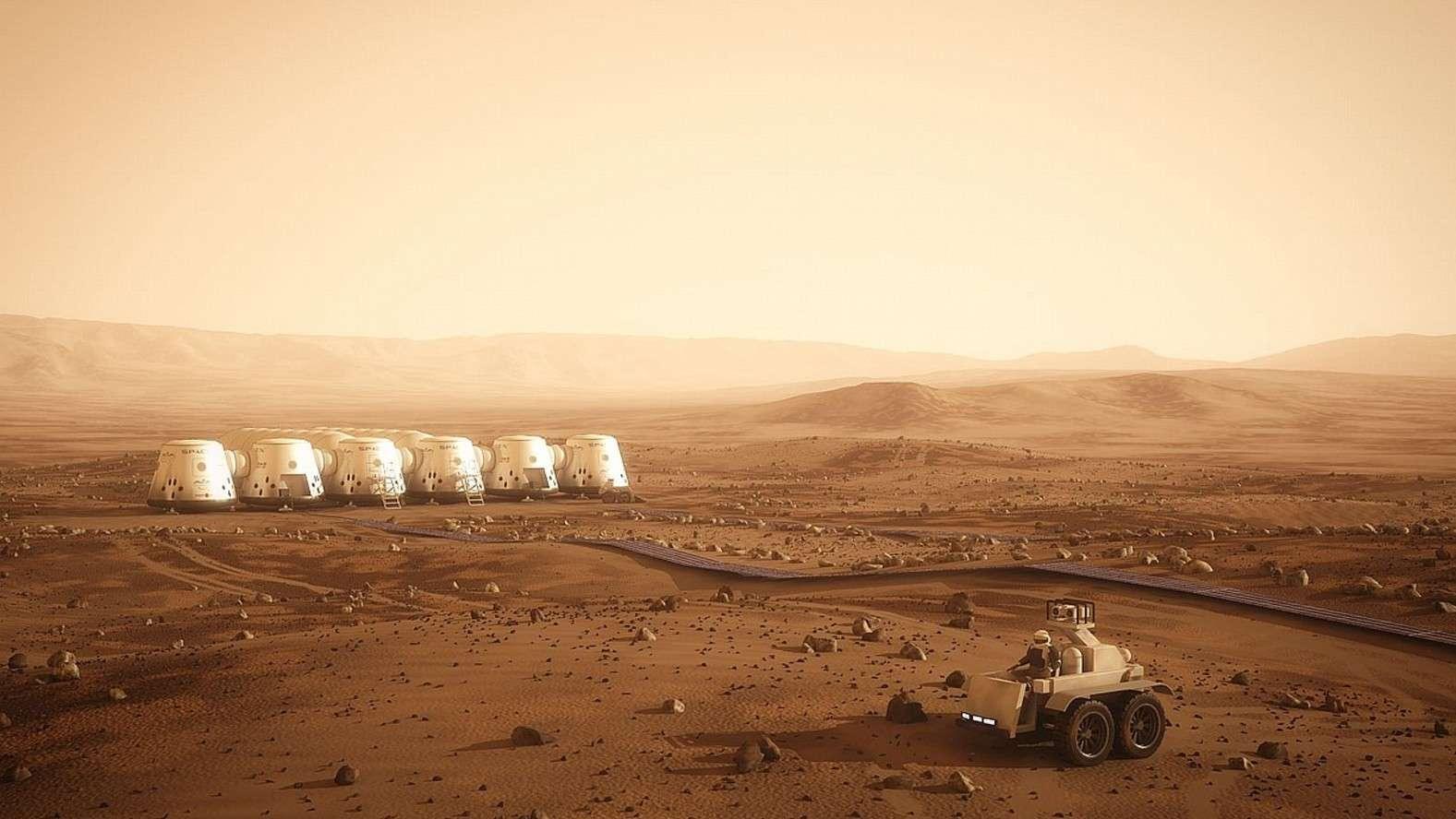 Le projet Mars One envisage de réaliser la première colonie martienne. Il reste cependant bien des défis technologiques à résoudre avant de voir ce rêve se réaliser. © Bryan Versteeg, Mars One