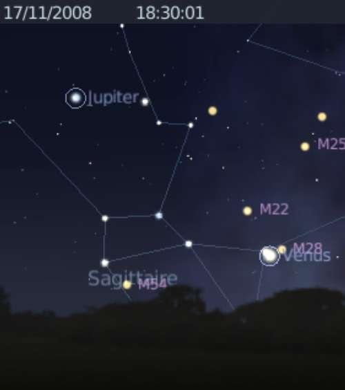 La planète Vénus frôle l'amas globulaire M28