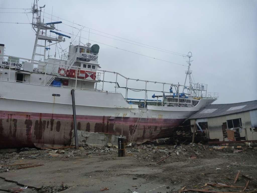 La ville de Miyako, au Japon, a sévèrement été touchée lors du tsunami de mars 2011. Elle a été submergée par une vague de presque 38 m de haut. © jetalone, Flickr, cc by 2.0