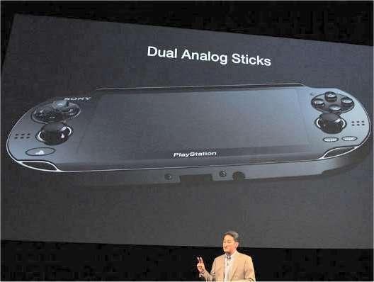 La présentation de la nouvelle PSP, appelée NGP, lors de la conférence de presse de Sony. © AV Watch, Japon