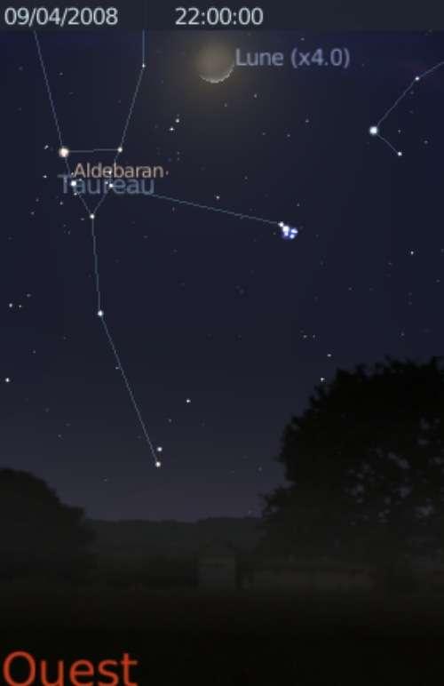 La Lune est en rapprochement avec l'étoile Aldébaran