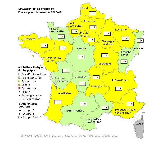 L'activité grippale reste encore faible en France métropolitaine, comme dans toute l'Europe. Mais le nombre de cas est en progrès. Quand l'épidémie se déclarera-t-elle vraiment ? © Grog