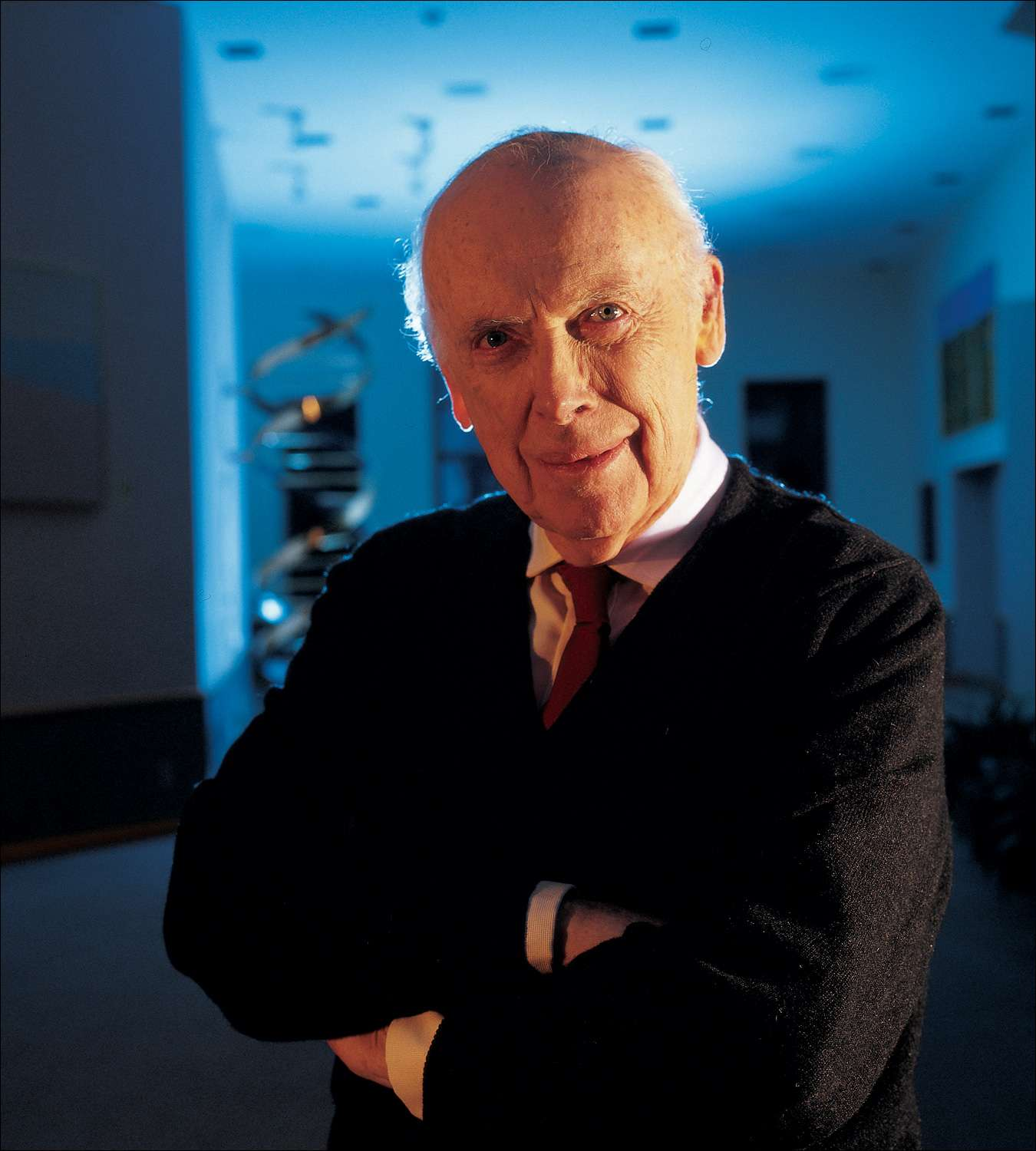 James Watson, le co-découvreur de la structure de l'ADN. Crédit : University of Arkansas