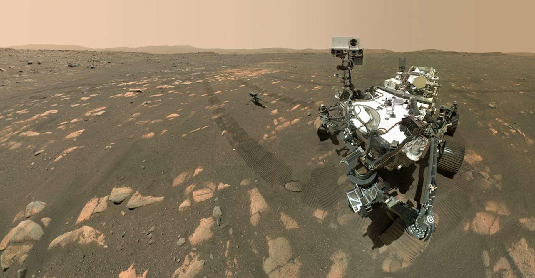 À l'occasion de ses six mois sur Mars, Google a choisi de mettre le rover de la Nasa Perseverance à l'honneur d'une vidéo. © Nasa, JPL-Caltech, MSSS