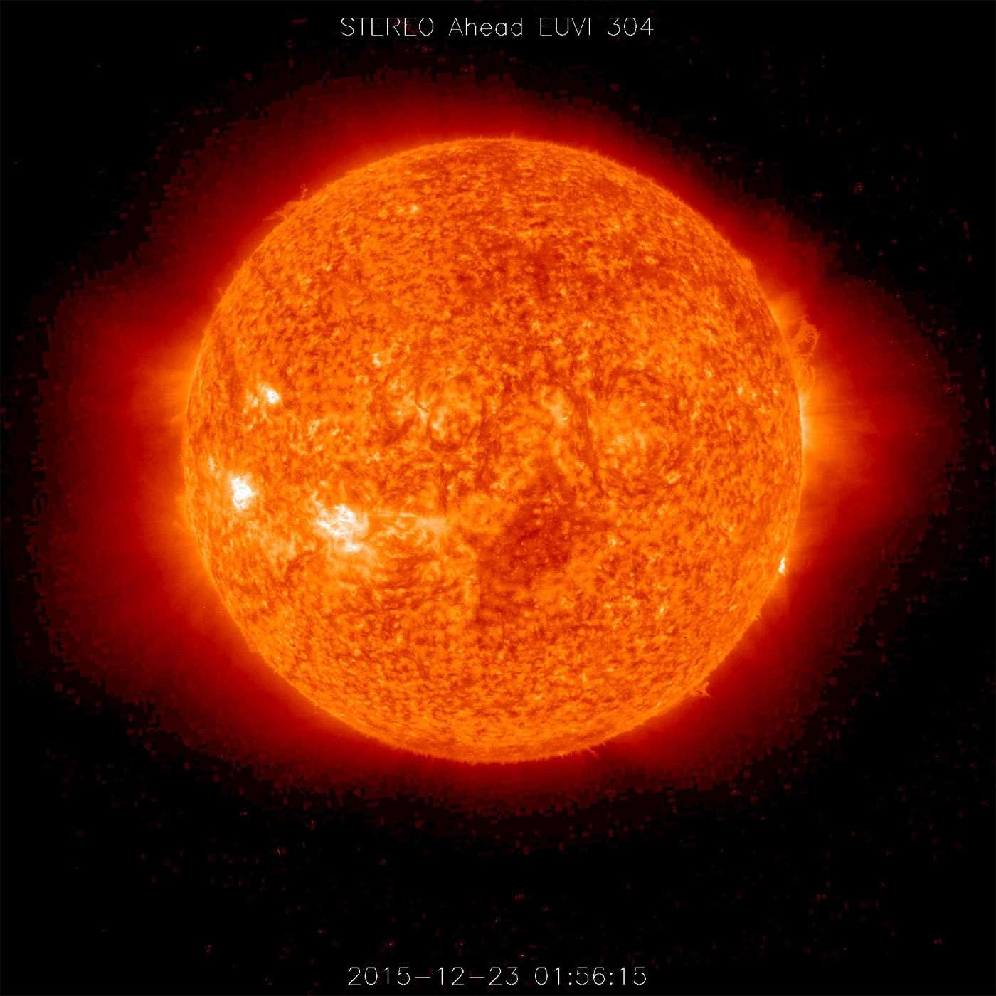 Le Soleil vu le 23 décembre 2015 par le satellite Stereo de la Nasa. © Nasa, Stereo Science Team