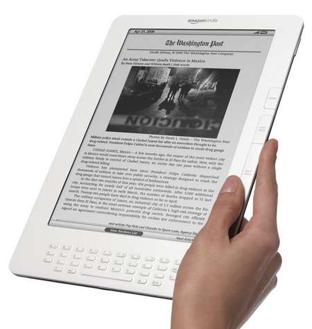 Le Kindle 3G Wireless Reading Device, dernier né de la gamme Kindle, pionnière dans le domaine du livre électronique. © Amazon