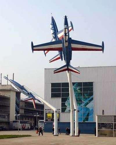 Le musée de l'Air et de l'espace, au Salon du Bourget. © Creative Commons