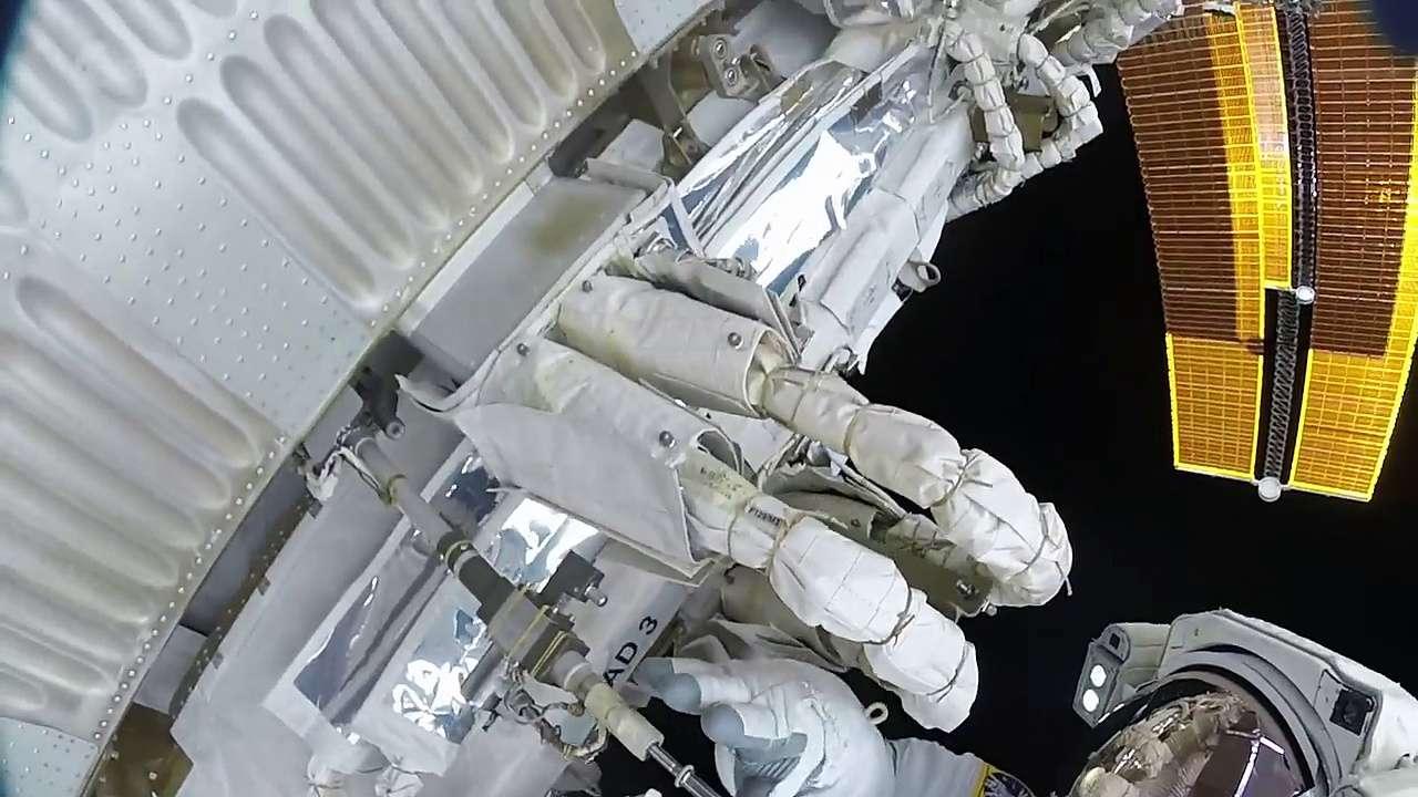 Thomas Pesquet : sa deuxième sortie dans l'espace en accéléré
