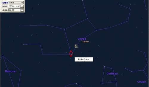 La Lune sera proche de l'étoile Spica