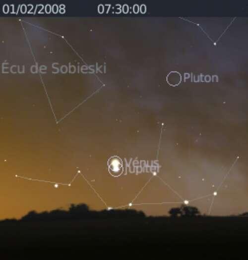 La planète Vénus est en rapprochement avec Jupiter